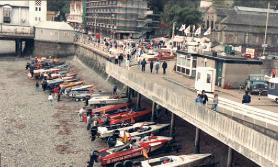 Race Boats on Penarth Waterfront